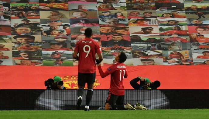 1-0: Mason Greenwood sendte Manchester United i ledelsen. Foto: NTB