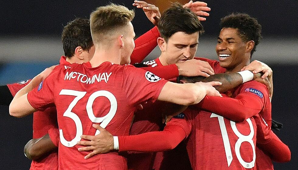 JUBEL: Marcus Rashford scoret tre mål for Manchester United. Foto: NTB