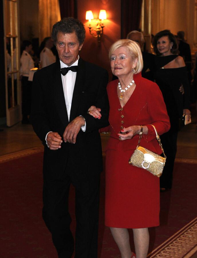 HAR GÅTT BORT: Her er dronning Silvias bror Walther avbildet sammen med kona Ingrid Sommerlath i 2013. Foto: Erik Mårtensson/ NTB