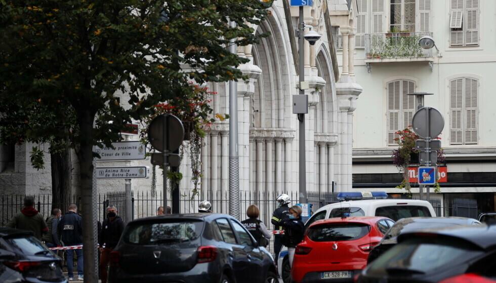 NOTRE-DAME: Angrepet skal ha funnet sted inne i Notre-Dame-kirken i byen. Foto: Eric Gaillard / Reuters / NTB