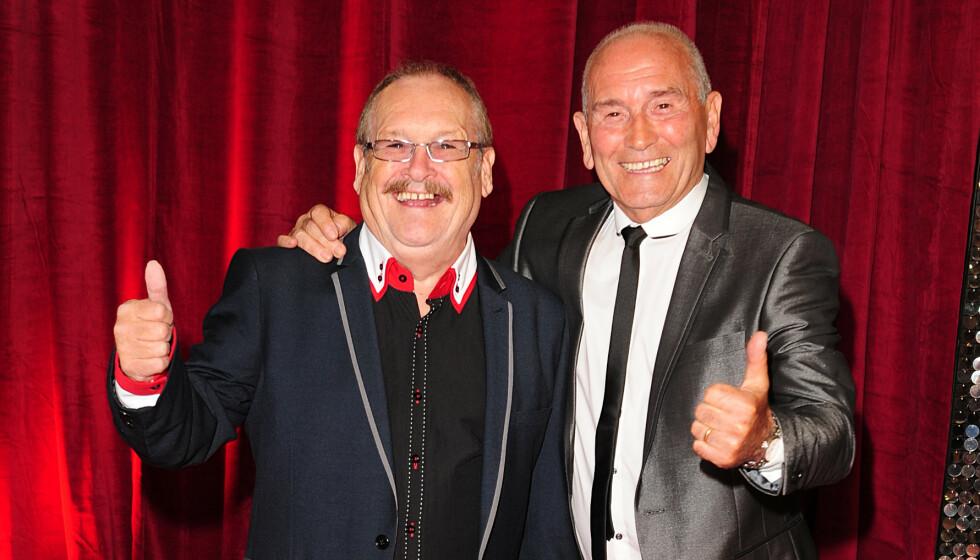 DØD: Komikeren Bobby Ball (til venstre) har gått bort. Her avbildet med Tommy Cannon i 2013. Foto: Ian West / Pa Photos / NTB