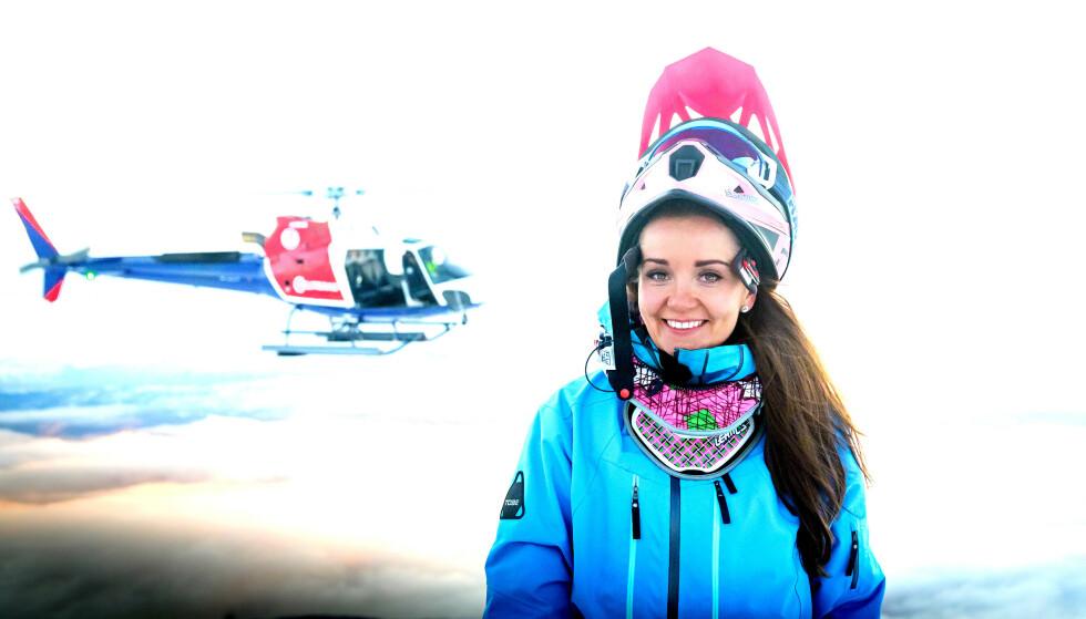 EKSTREMSPORT: Marlene Frantzen har snøscooter som hobby og driver med kjøring i Narvikfjellet. Foto: Kjetil Janson / TV 2