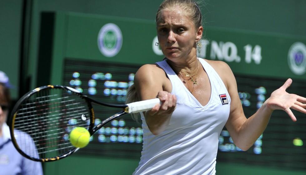 BLE RANET: Anna Tjakvetadze, her fra Wimbledon i 2010, åpner opp om natta hun og familien ble ranet. Foto: NTB