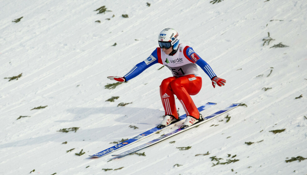 VERDENSREKORD: Anders Fannemel satte verdensrekord med et svev på 251,5 meter i Vikersund i 2015. Foto: Vegard Wivestad Grøtt / NTB