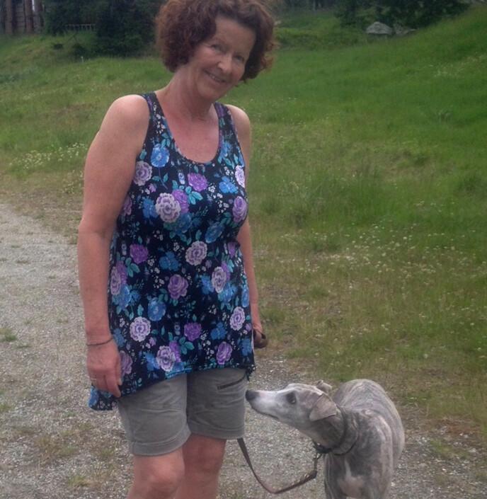 <strong>GLAD I HUNDER:</strong> Anne-Elisabeth var glad i hunder, og hadde nylig fått en valp da hun forvant 31. oktober 2018. Foto: Privat / NTB