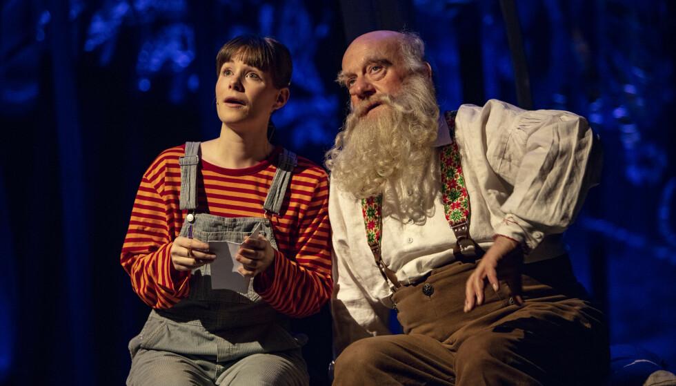 «SNØFALL»: Emilie Mordal og Trond Høvik i «Snøfall». Foto: Bård Gundersen / Oslo Nye Teater