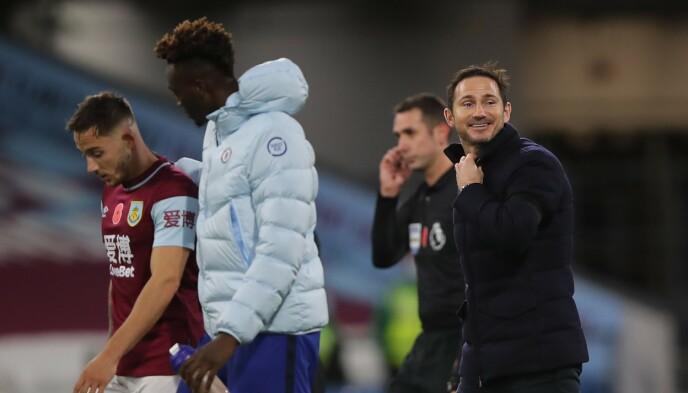 GLAD: Chelsea-manager Frank Lampard (til høyre) var fornøyd med tre nye poeng. Foto: NTB