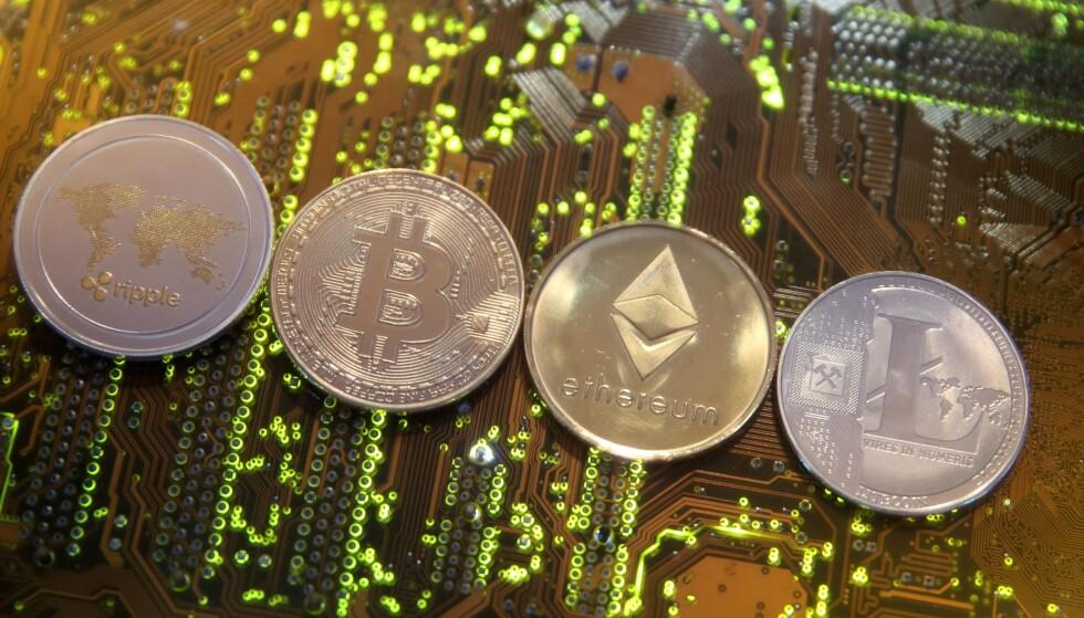 KRYPTOVALUTA: På det drøye tiåret som har gått siden det startet som en veldig alternativ valuta, har kryptovaluta vokst seg til et enormt marked. Foto: REUTERS/Dado Ruvic/Illustration/File Photo