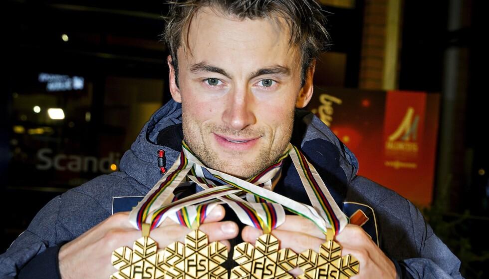 GA ET MISVISENDE BILDE: Petter Northug snakket ned seg selv på veien mot alle gullmedaljene. Foto: Bjørn Langsem / Dagbladet