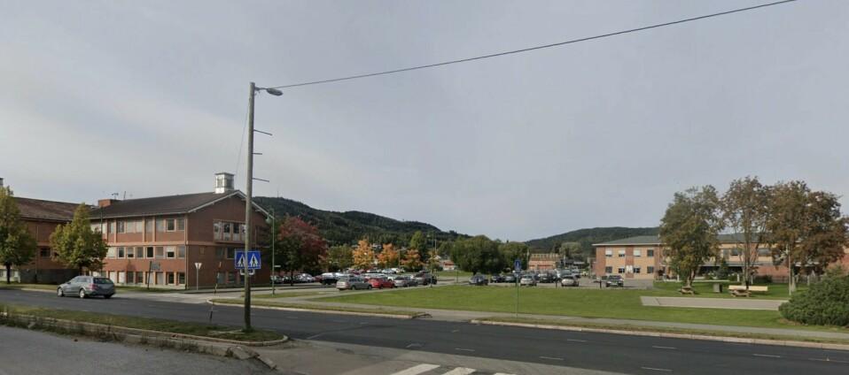 UTBRUDD: Våler og Åsnes kommune har fått et større utbrudd av coronaviruset. Foto: Google Earth