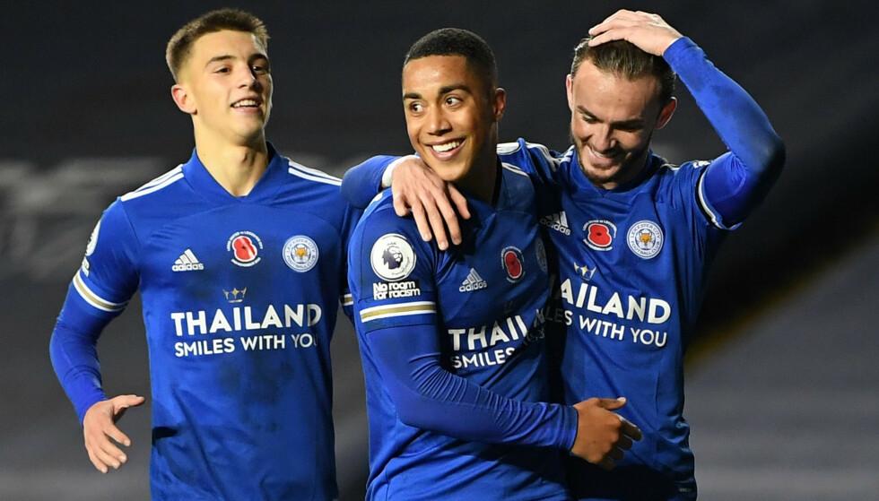 I STORSLAG: Leicester og Youri Tieleman er i storslag. Foto: REUTERS/Michael Regan/NTB