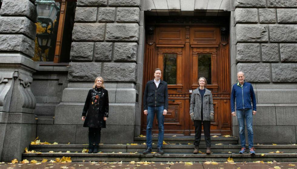 Maren Esmark, generalsekretær i Naturvernforbundet (f.v.) med Frode Pleym, Therese Hugstmyr Woie og Steinar Winther Christensen.