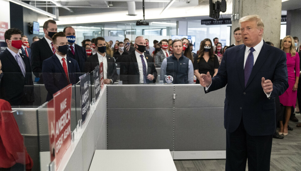 President Donald Trump speaks at the Trump campaign headquarters on Election Day, Tuesday, Nov. 3, 2020, in Arlington, Va. (AP Photo/Alex Brandon)