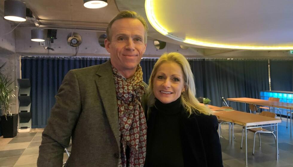 SAMBOERE: Merete Lingjærde og kjæresten Anders Mørk på premiere av musikalen «West Side Story» onsdag kveld. Foto: Henriette Eilertsen