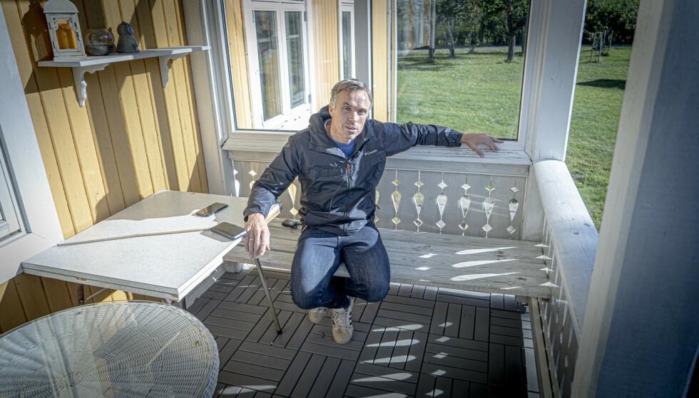 STERK HISTORIE: Vidar Løfshus forteller åpenhjertig. Foto: Kristoffer Løkås