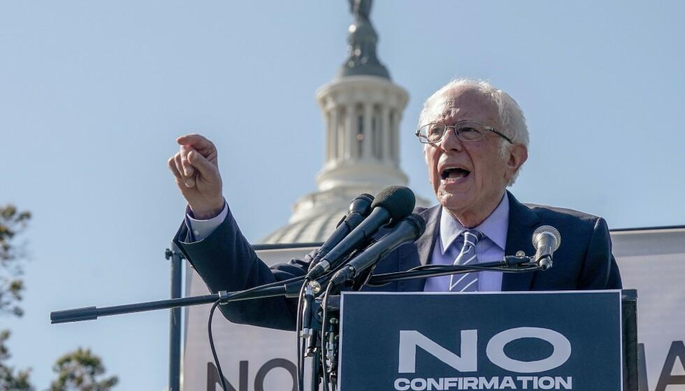 SPÅMANN: Senator Bernie Sanders traff ganske bra på hva som kom til å skje valgnatta og de påfølgende dagene. Foto: Jemal Countess/Getty Images for Care In Action/AFP