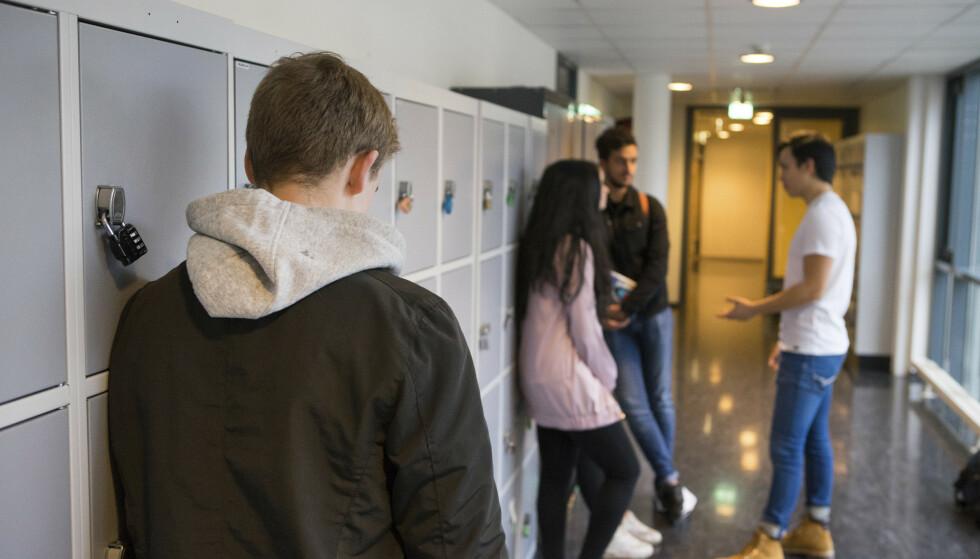 HJEMMEUNDERVISNING: På alle videregående skoler i det enorme Viken fylke blir det i hovedsak bli hjemmeundervisning fra mandag av. På Stortinget reagerer Høyre kraftig. Foto: Thomas Brun / NTB