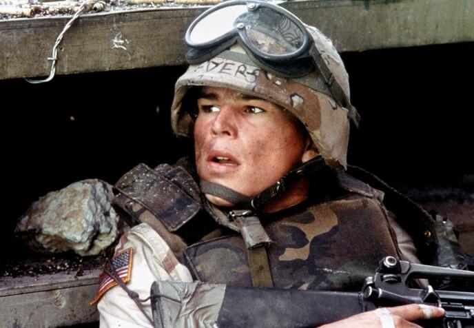 «Black Hawn Down»: Josh Hartnett spilte rollen som Matt Eversmann i drama- og krigsfilmen «Black Hawn Down» fra 2001. Her avbildet i filmen. Foto: Moviestore / REX / NTB
