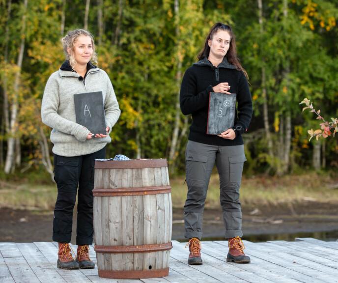 KUNNSKAP: Karianne Vilde Wølner og Karianne Kopperstad fikk testet kunnskapen sin i søndagens tvekamp. Sistnevnte gikk seierende fra det. Foto: Alex Iversen / TV2