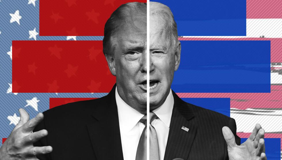 SPENNING: Valget i USA har utviklet seg til å bli en skikkelig thriller. Slik kan utfallet av valget i USA påvirke aksjemarkedet. Foto: NTB scanpix