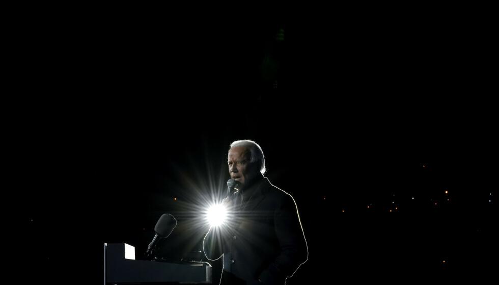 Demokratenes Joe Biden er på god vei mot å bli USAs nye president. Foto: Andrew Harnik/AP/NTB