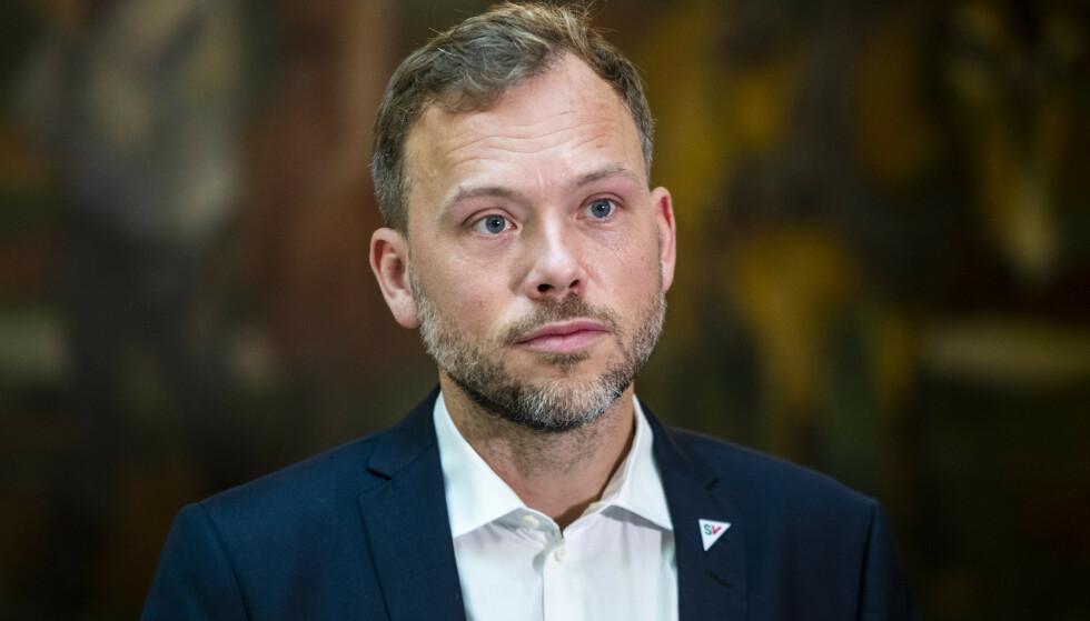 JUBLER: SV-leder Audun Lysbakken. Foto: Terje Pedersen / NTB