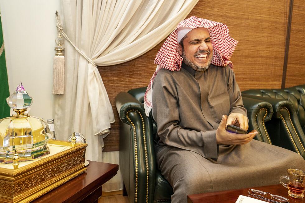 KARISMATISK SJEF: Muhammad al-Issa er sjef for Muslim World League, som blir sett på som Saudi-Arabias religiøse arm ut i verden. Før det var han en omdiskutert justisminister i landet. Foto: Hans Arne Vedlog / Dagbladet