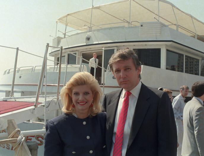 EKSPAR: Her er Ivana og Donald Trump avbildet i juli i 1988. Foto: Marty Lederhandler / NTB