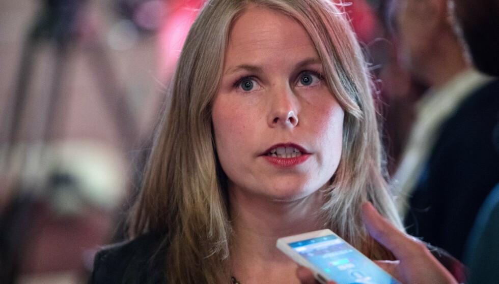 LANSERER NYTT PROGRAM: Nestleder i SV, Kirsti Bergstø, vil gå til valg på å bygge ut nye velferdstjenester, men først vil hun stoppe «overklassefesten» Foto: Audun Braastad / NTB