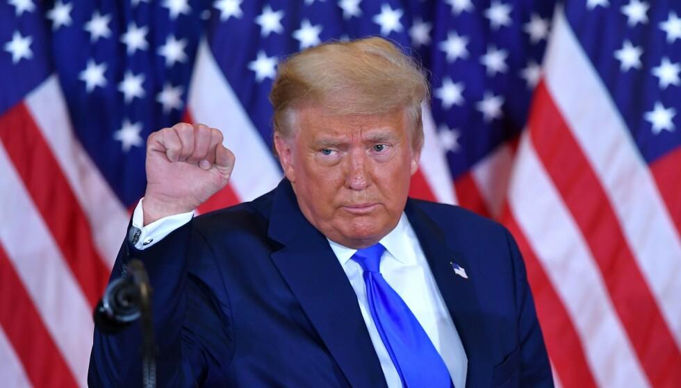 BIDEN UTPEKT SOM VINNER: De fleste er enige om at Demokratenes Joe Biden har vunnet presidentvalget - unntatt Trump-leiren. Foto: Mandel Ngan / AFP / NTB