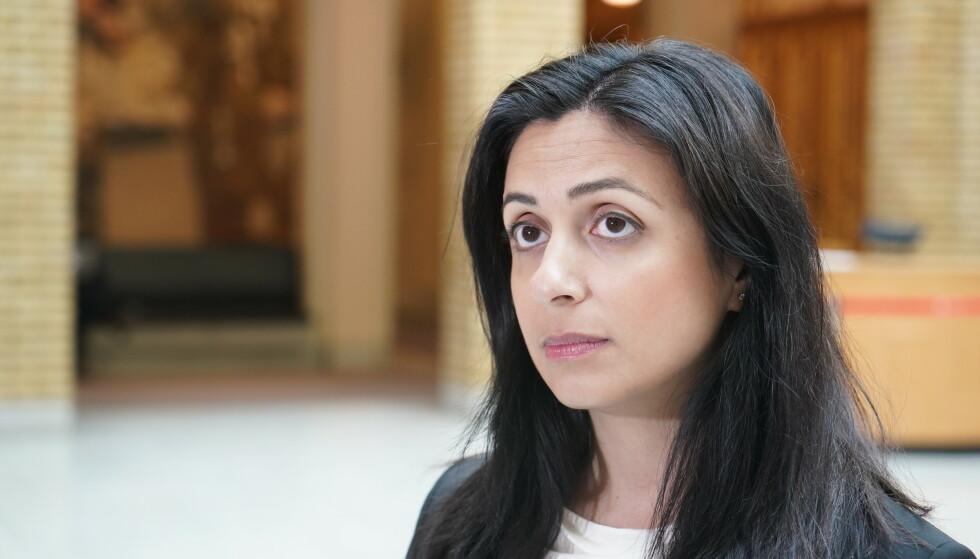 VIL HA SVAR: Hadia Tajik mener Høyre nå må være åpne om hvilke skattekutt de vil gjennomføre. Foto: Hans Arne Vedlog