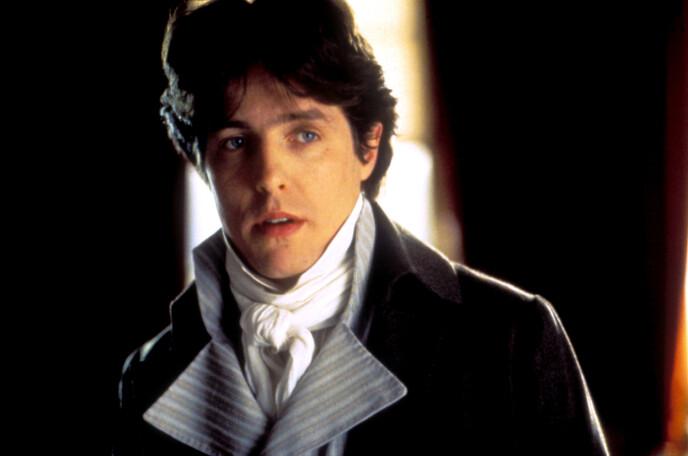 DEN GANG DA: Her er Hugh Grant avbildet i filmen «Sense and Sensibility» fra 1995. I filmen spilte han rollen som Edward Ferrars. Foto: Moviestore / Rex / NTB