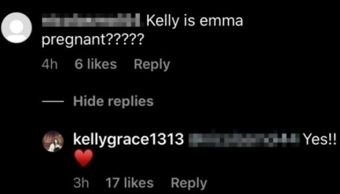 KJAPP PÅ AVTREKKEREN: Det var Emma Roberts mor som i juni bekreftet babynyheten. Foto: Skjermdump fra Instagram
