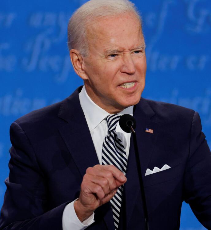 ANKLAGER: Joe Biden ble tidligere i år anklaget av en av sine tidligere medarbeidere for seksuell trakassering. Foto: NTB