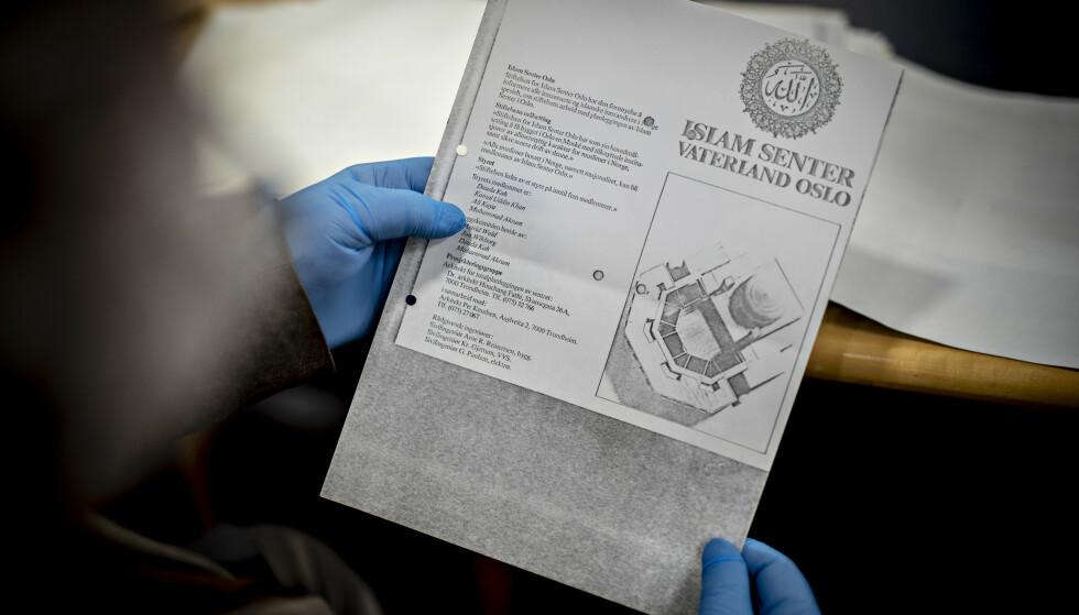 EGEN BROSJYRE: Islam senter Vaterland Oslo var godt i gang, og laget også egen brosjyre. Foto: Bjørn Langsem / Dagbladet