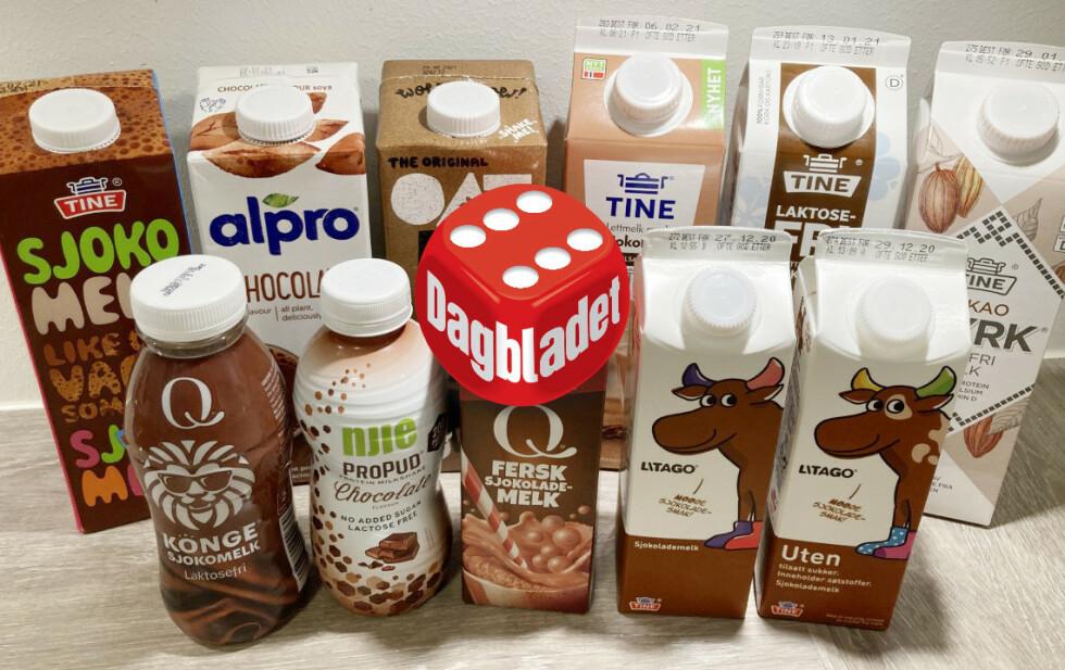 SJOKOLADEMELK: Det skal ikke stå på utvalget når det gjelder sjokolademelk. Vil du holde deg sunnest mulig lønner det seg å ta en kikk på næringsinnholdet. Foto: Jenny Mina Rødahl
