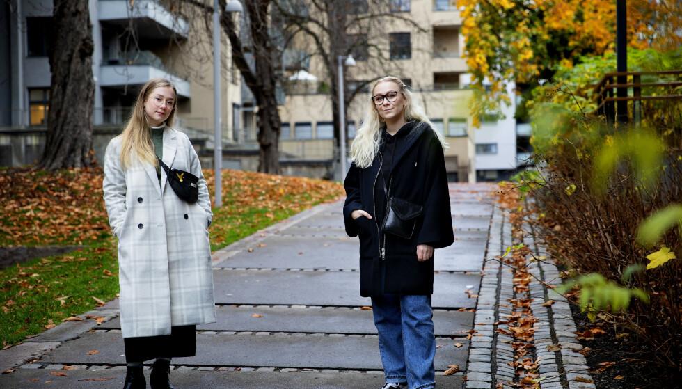 IKKE FORSVARLIG: Solveig Fosse (t.v) og Helene Aspen (t.h) forteller at en stor del av deres medstudenter som skal delta på øvelsen mener det ikke er forsvarlig. Foto Kristin Svorte / Dagbladet.