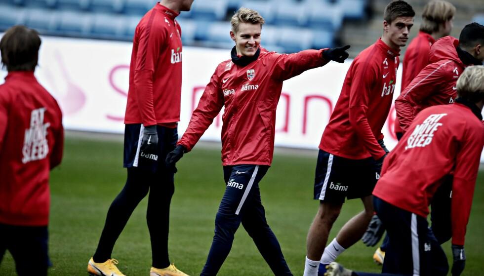 VIKTIGE KAMPER: Martin Ødegaard ser fram til de to Nations League-oppgjørene mot Romania og Østerrike. Foto: Bjørn Langsem / Dagbladet