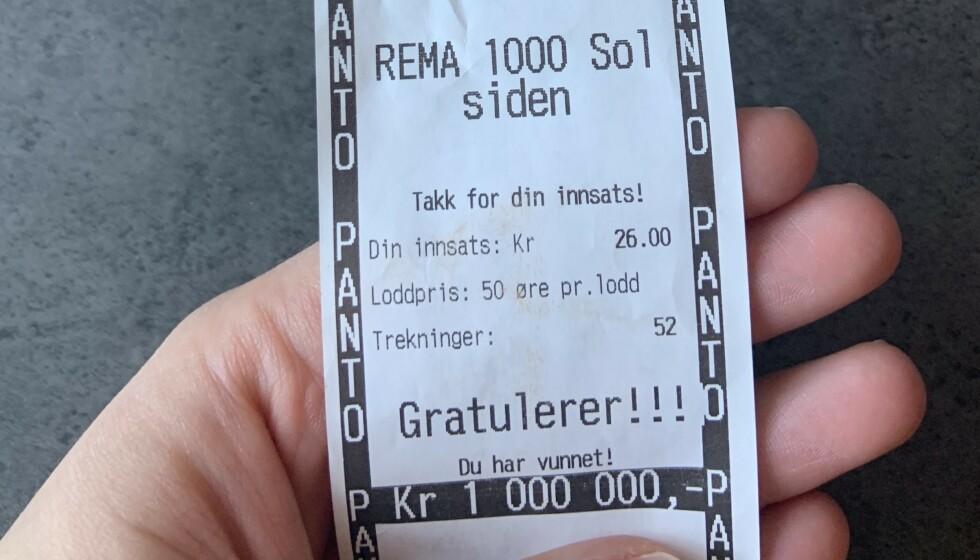 BLE MILLIONÆR: Den 26 år gamle trondheimskvinnen ble i går millionær på Pantelotteriet. Foto: Privat