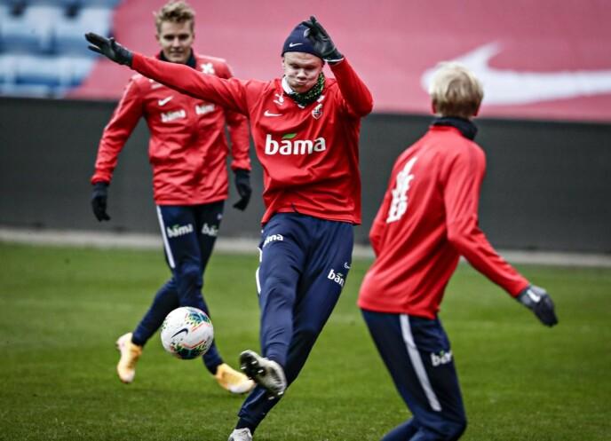 I SKUDDET: Erling Braut Haaland i aksjon på Ullevaal denne uka. Foto: Bjørn Langsem