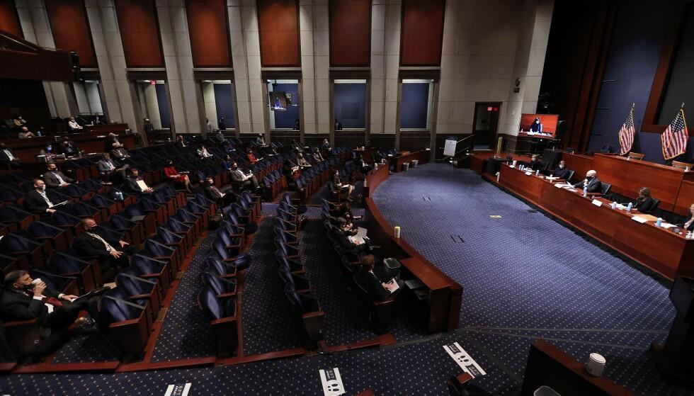 SENATET: Det er viktig for demokratene å få flertall i Senatet. Foto: Chip Somodevilla / AFP / NTB