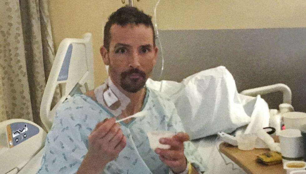 45 MINUTTER: Michael Knapinski ble funnet etter et hardt døgn på fjellet. Da han ankom sykehuset, stoppet hjertet hans å slå - men legene ga ikke opp. Foto: Susan Gregg / University of Washington Medicine / AP / NTB