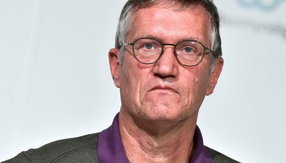 HØY TILLIT: En ny undersøkelse vitner om høy tillit til Sveriges statsepidemiolog Anders Tegnell. Foto: Claudio Bresciani / TT / Reuters / NTB