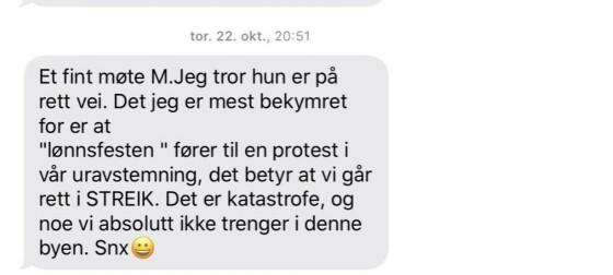 Fagforeningstopp og byråd diskuterte streik på SMS