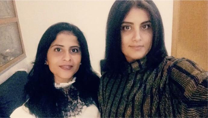 STORT SAVN: Her er Lina og Louijain al-Hathloul (t.h) sammen for siste gang, i desember 2017. Lillesøster Lina al-Hathloul ber norske myndigheter presse den nye saudiske ambassadøren for å få satt søstera fri. Foto: Privat