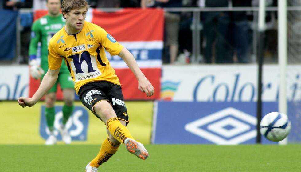 UNGT HÅP: Tronstad debuterte for Start i Eliteserien i 2013, 17 år gammel. Foto: NTB