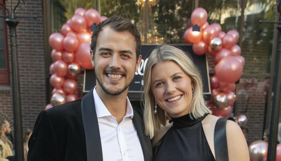 NYBAKTE FORELDRE: Programleder Tiril Sjåstad Christiansen og forloveden Stian Lauritzen har blitt foreldre til ei jente. Foto: Tore Skaar / Se og Hør
