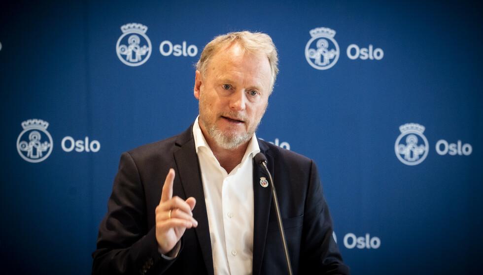 RAYMOND JOHANSEN: Byrådslederens innvendinger kommer på overtid av overtida. Men statsrådens påstand er uhyrlig. Foto: Lars Eivind Bones / Dagbladet