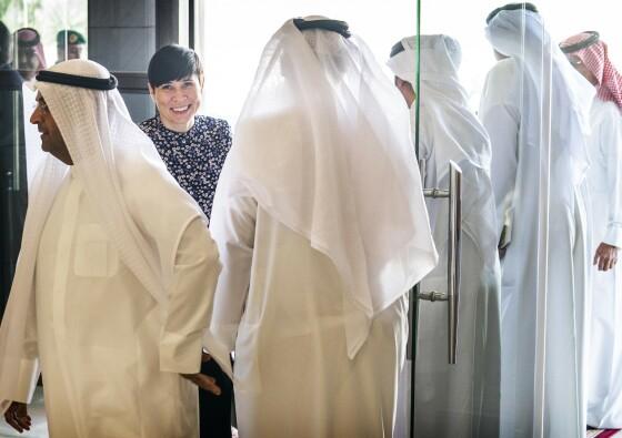 SAUDI-BESØK: I februar var utenriksminister Ine Marie Eriksen Søreidet på besøk i Saudi Arabia. Foto: Hans Arne Vedlog / Dagbladet