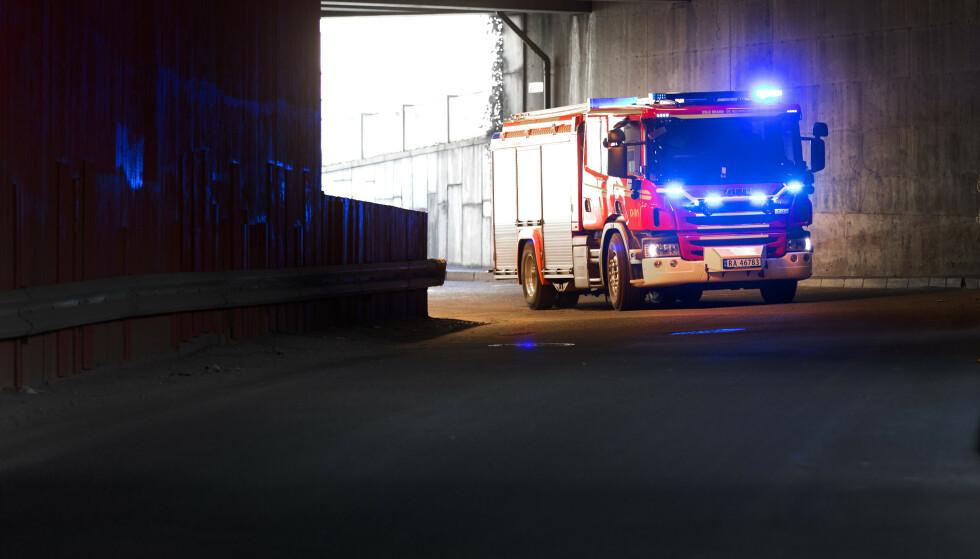 Brannbil under utrykning. i Oslo brann- og redningsetat. Foto: Gorm Kallestad / NTB NB! Kun redaksjonell bruk